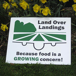 Land Over Landings sign