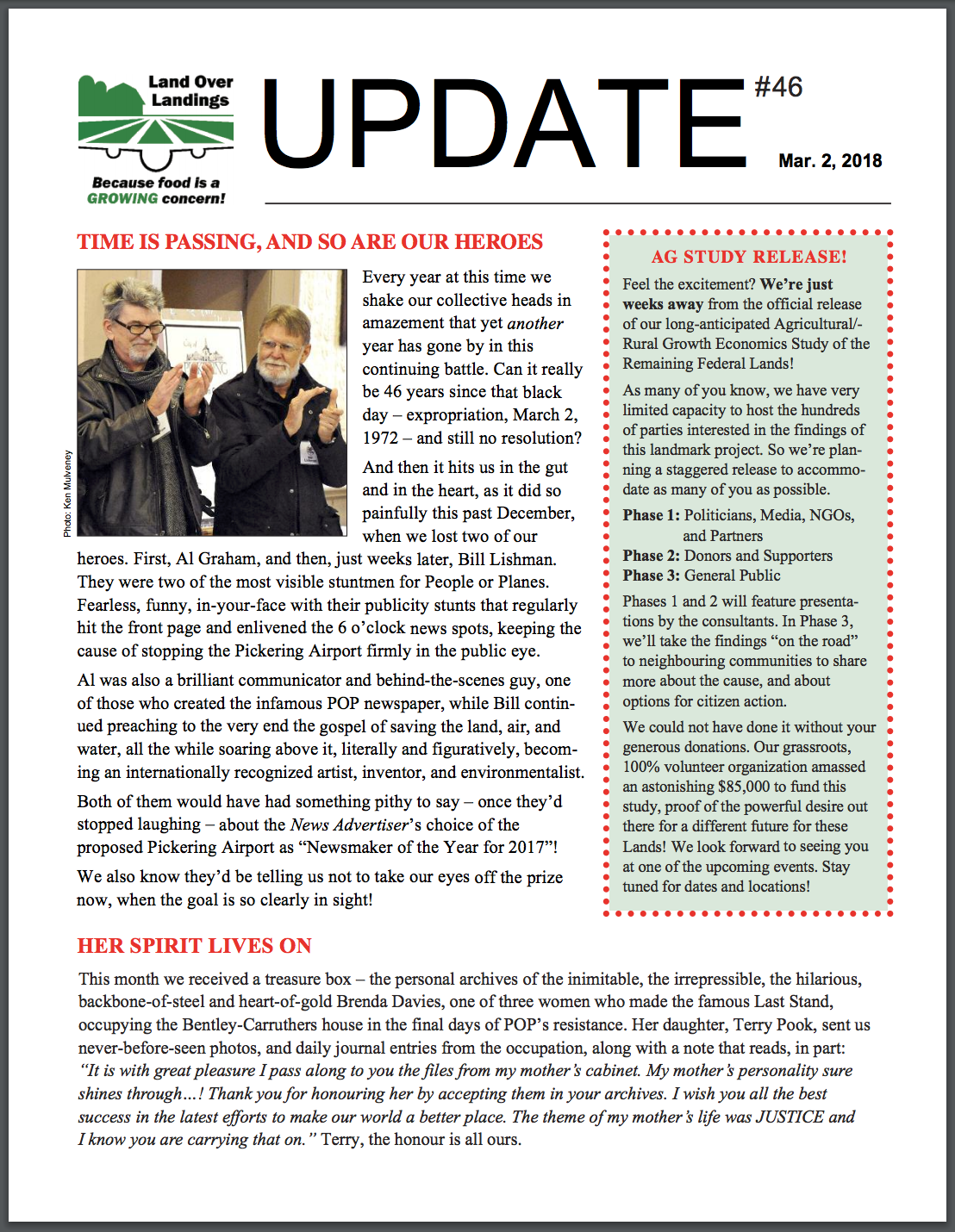 Page 1 of March Newsletter