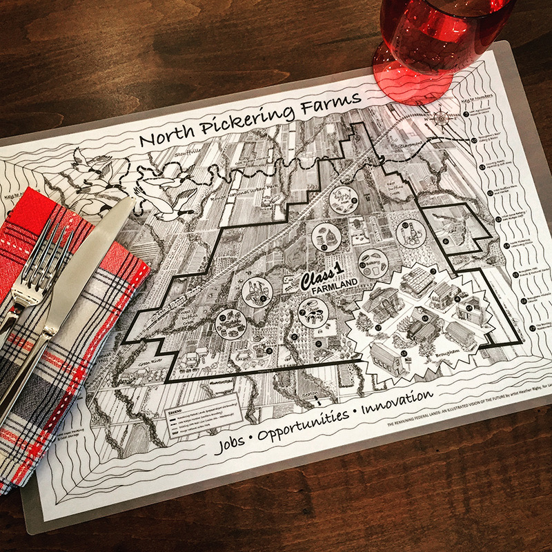 Placemat with Pickering map